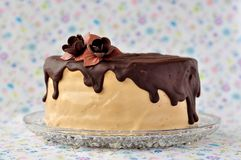 Chocolate and Caramel Cake Royalty Free Stock Photo
