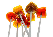 Caramel lollipops Royalty Free Stock Images
