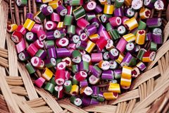 Caramel lumineux de sucrerie de fond Photos stock