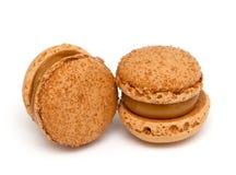 Caramel macaroons Royalty Free Stock Image