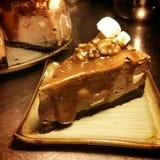 Caramel Marshmellow Cheese Cake Royalty Free Stock Photos