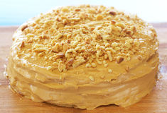 Caramel medovik cake Royalty Free Stock Photo