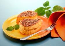 Caramel mousse Stock Photo