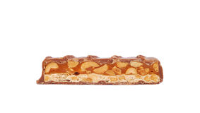 Caramel and nuts chocolate Stock Images