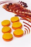 Caramel and orange marron cookies Stock Image