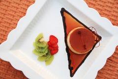 Caramel pastry cake Royalty Free Stock Photo