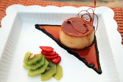 Caramel Pastry Cake Stock Photography