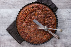 Caramel pecan pie Royalty Free Stock Photography