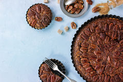 Caramel pecan pie Stock Photo