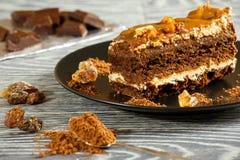 Caramel pie Royalty Free Stock Photography