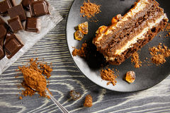 Caramel pie Stock Photography