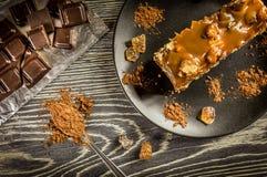 Caramel pie Stock Image