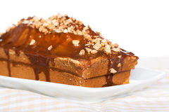 Caramel pie Royalty Free Stock Images
