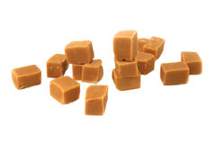 Caramel pieces Stock Image