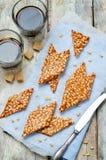 Caramel pine nuts sweets. Italian cuisine Royalty Free Stock Photo