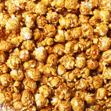 Caramel pop corn. Background close up Stock Photo