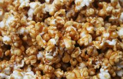 Caramel Popcorn. Close up background texture of Caramel Popcorn Stock Images