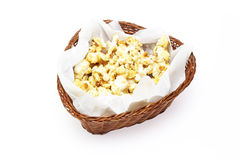 Caramel popcorn in a basket Royalty Free Stock Photo