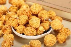 Caramel popcorn in a bowl Royalty Free Stock Photo
