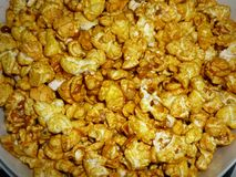 caramel popcorn from the cinema royalty free stock image