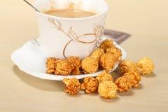 Caramel popcorn Stock Images