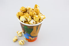 Caramel Popcorn Stock Photo