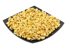 Caramel popcorn. Isolated. Royalty Free Stock Images