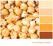 Free Caramel Popcorn Palette Royalty Free Stock Image - 30102826
