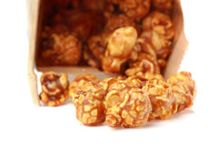 Caramel popcorn in paper box Stock Photos