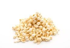 Caramel popcorn on white. Background stock images