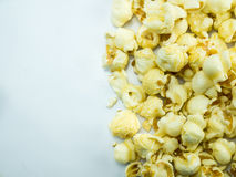 Caramel Popcorn on white background. Caramel Popcorn with white background copy space Stock Image