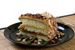 Caramel praline cake Stock Photos