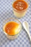 Caramel Pudding Stock Photo
