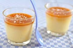 Caramel Pudding Stock Image
