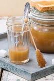 Caramel sauce Stock Photography