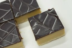 Caramel Slice Stock Photography