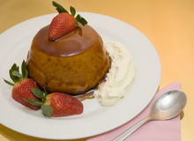 Caramel sponge pudding Royalty Free Stock Photos