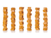 Caramel stacks Royalty Free Stock Photos