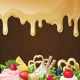 Caramel sweets background Stock Photos