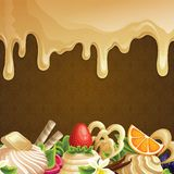 Caramel sweets background Stock Photography