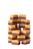 Caramel sweets, isolated Royalty Free Stock Images