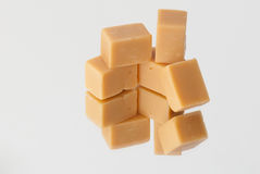 Caramel sweets on a mirror Royalty Free Stock Photo