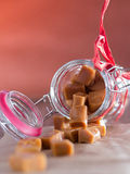 Caramel sweets Stock Image
