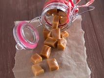 Caramel sweets Stock Photos