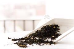 Caramel Tea. On white background Stock Photos