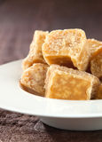 Caramel toffees in a bowl Stock Photos