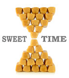 Caramel toffees. sweet time concept Stock Image
