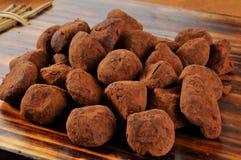 Caramel Truffles. Imported organic caramel truffles dipped in cocoa Royalty Free Stock Photos