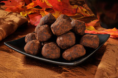 Caramel truffles Stock Image