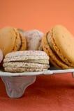 Caramel and vanilla macaroons Royalty Free Stock Photos